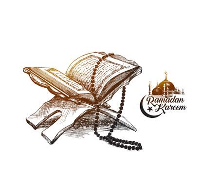 Illustration pour The holy book of the Koran - image libre de droit