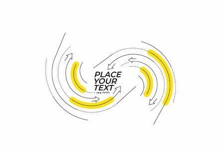 Illustration pour Flat linear promotion geometric shapes - image libre de droit