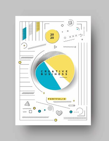 Illustration pour Abstract geometric background Use for modern design, cover, poster, template, brochure, decorated, flyer, banner. - image libre de droit