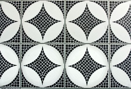 black and white mosaic background