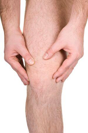 Photo pour male knee on white background - image libre de droit