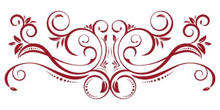 Ilustración de Red Vintage Border Ornament - Imagen libre de derechos