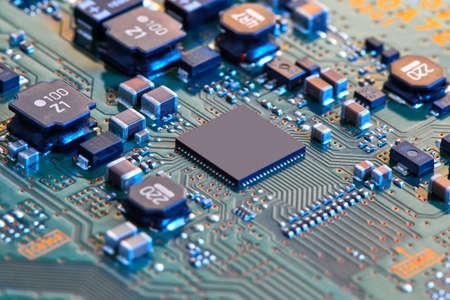 Photo pour Electronic circuit board close up. - image libre de droit