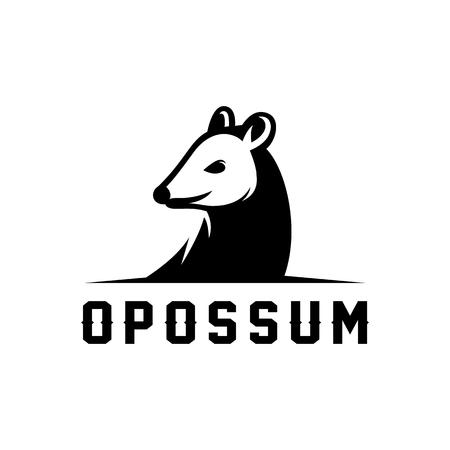 Illustration pour Opossum icon design - image libre de droit