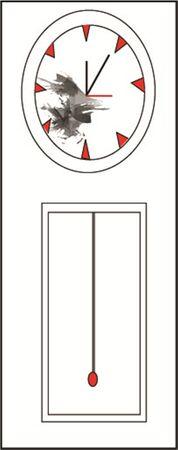 Clock vintages. Vector illustration.