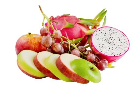 Foto für Mix of different fruits on the white - Lizenzfreies Bild