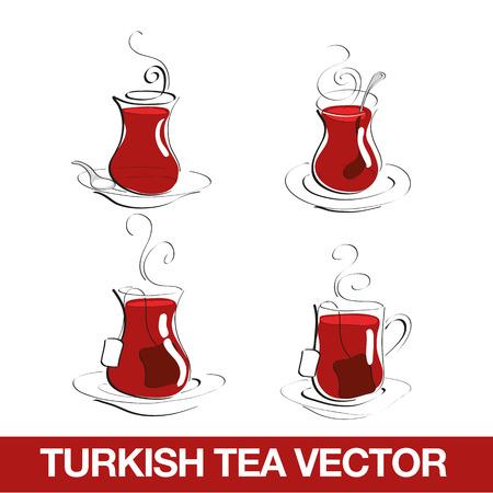 Illustration pour Turkish Tea Cup - image libre de droit