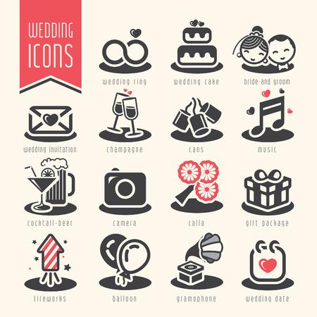Illustration for Wedding icon set. - Royalty Free Image