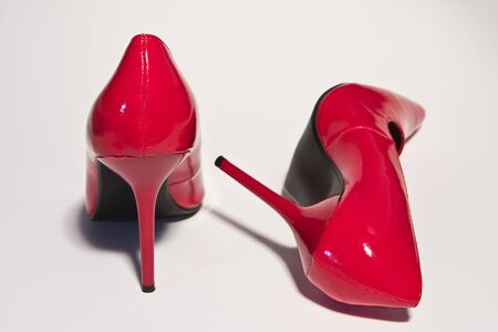 Picture shows a pair of red high heels