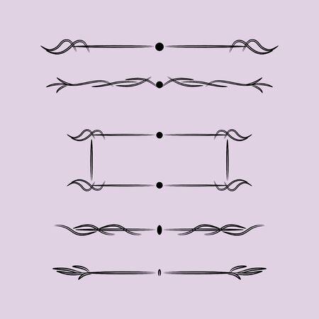 Illustration pour Vintage Design Elements With Lines, Vintage Design Elements With Lines - image libre de droit