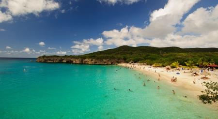Beautiful white sand beach in the Caribbean
