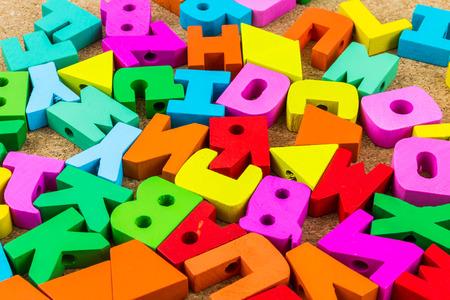 English alphabet wood  background
