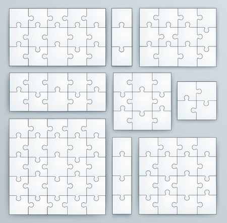 Jigsaw Puzzle Templates Set Of 15 3 12 10 9