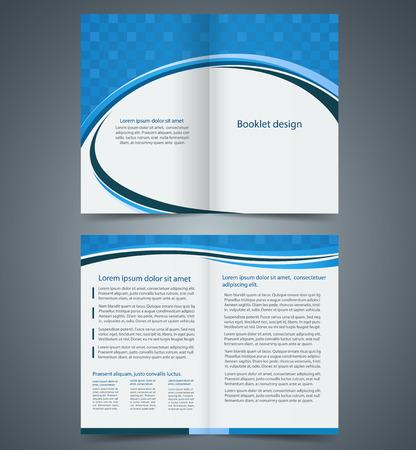 Vecteur De Blue Bifold Brochure Template Id 27927290 Image Libre