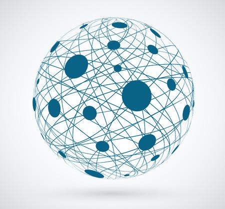 Illustration pour Networks, global connections. - image libre de droit