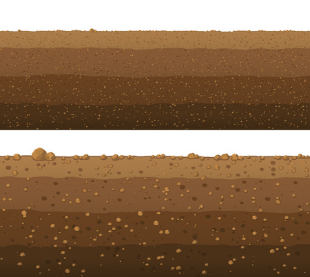 Illustration for Underground layers of earth, seamless ground surface design. - Royalty Free Image