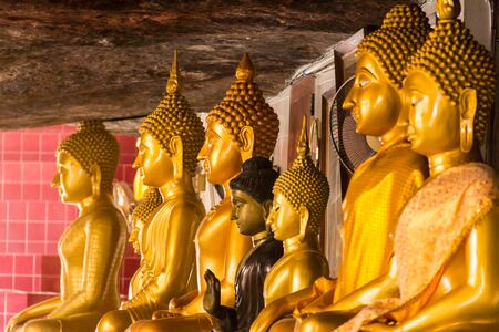 Thailand temple buddha image, Wat tam kong pel temple.Nongbualumphu Thailand