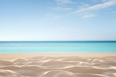 Empty, defocused tropical beach background with copy space