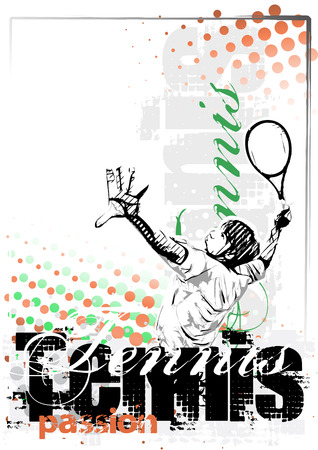 tennis poster background