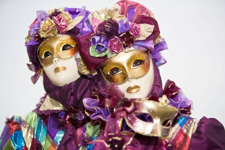 Purple costume with roses at the Venice Carnivalの素材 [FY3103648871]