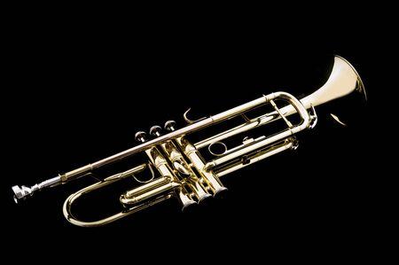 Trumpet on black