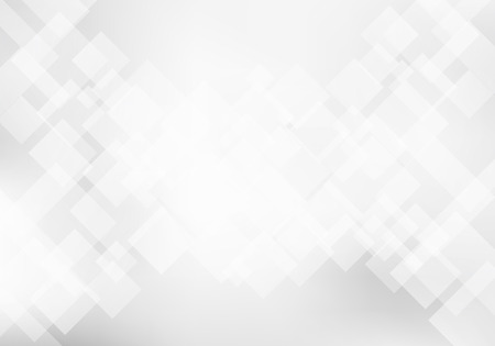 Illustration for Abstract elegant white and gray geometric background technology concept. Squares pattern texture. Vector illustration - Royalty Free Image