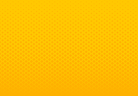 Illustration for Abstract gradient yellow squares pattern halftone horizontal background pop art style. You can use for Design elements presentation, banner web, brochure, poster, leaflet, flyer, etc. Vector illustration - Royalty Free Image