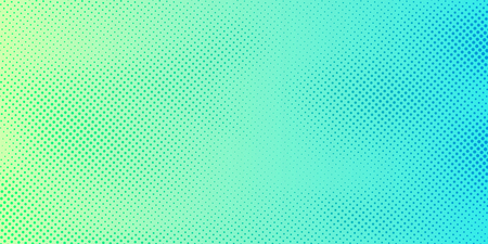 Illustration for Abstract bright green and blue gradient color background with halftone pattern texture. Creative cover design template. Vector illustration - Royalty Free Image