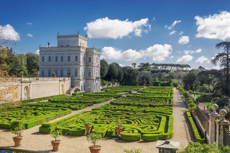 Photo pour Rome, Italy, march 26, 2017: Casino del Bel respiro inside Villa Doria Pamphili park and its secret garden in Rome, Italy - image libre de droit