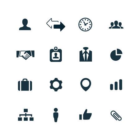 Foto de corporate icons set on white background - Imagen libre de derechos