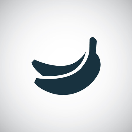 Illustration pour banana icon, isolated, black on the white background. Vector - image libre de droit