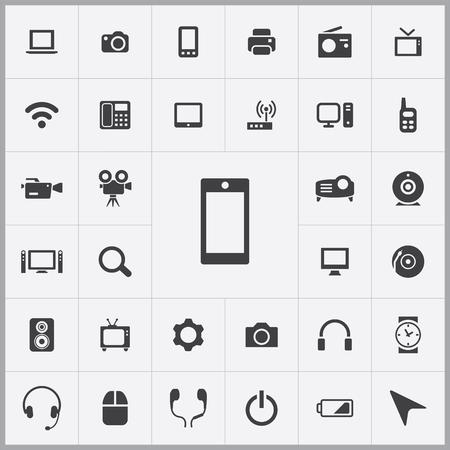 Ilustración de device icons universal set for web and mobile - Imagen libre de derechos