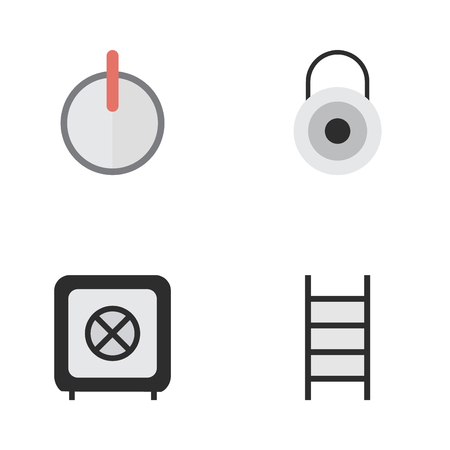 Vector Illustration Set Of Simple Offense Icons  Elements