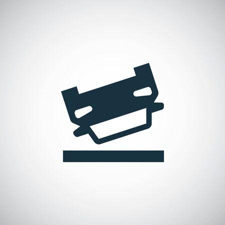 Illustration pour car crash icon - image libre de droit