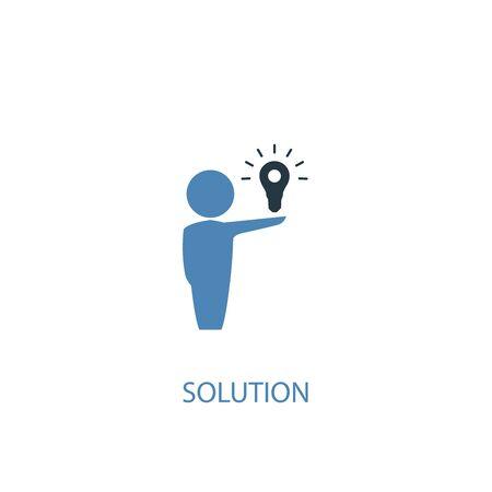 Illustration pour Solution concept 2 colored icon. Simple blue element illustration. Solution concept symbol design. Can be used for web and mobile - image libre de droit