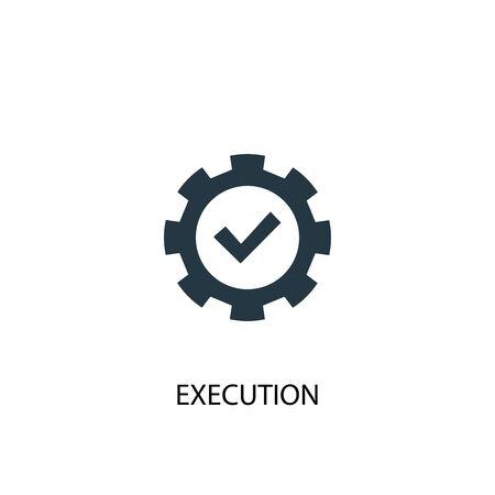 Illustration pour execution icon. Simple element illustration. execution concept symbol design. Can be used for web - image libre de droit
