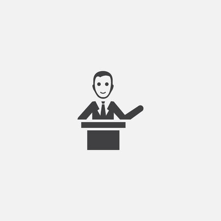 Illustration pour lecturer base icon. Simple sign illustration. lecturer symbol design. Can be used for web, and mobile - image libre de droit