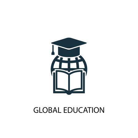 Illustration pour global education icon. Simple element illustration. global education concept symbol design. Can be used for web - image libre de droit