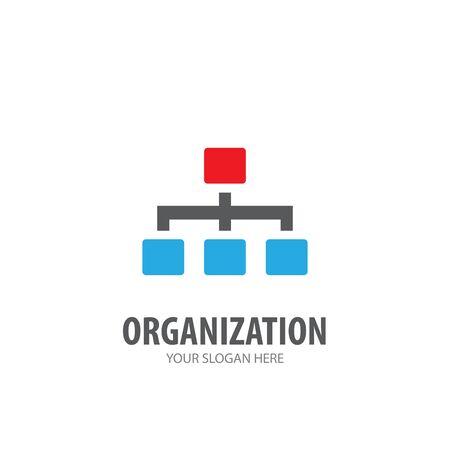 Illustration pour Organization logo for business company. Simple Organization logotype idea design - image libre de droit