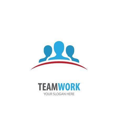 Illustration pour teamwork logo for business company. Simple teamwork logotype idea design - image libre de droit