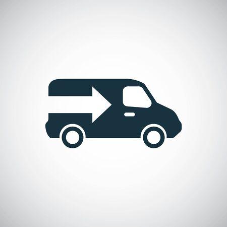 Ilustración de truck arrow icon trendy simple symbol concept template - Imagen libre de derechos