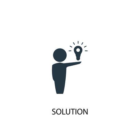 Illustration pour Solution icon. Simple element illustration. Solution concept symbol design. Can be used for web - image libre de droit