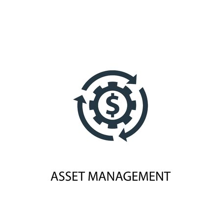 Illustration pour asset management icon. Simple element illustration. asset management concept symbol design. Can be used for web - image libre de droit