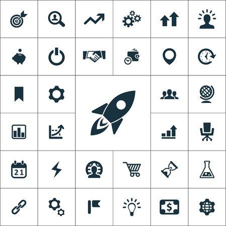 Illustration pour startup icons universal set for web and UI - image libre de droit