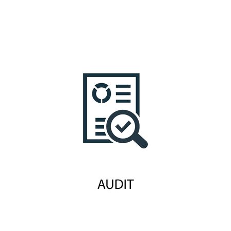 audit icon. Simple element illustration. audit concept symbol design. Can be used for web