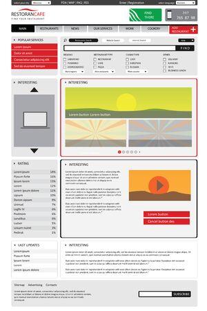 Illustration pour editable website catalog template on white backgrounds. - image libre de droit