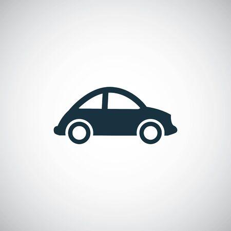 Illustration pour mini car icon on white background. - image libre de droit