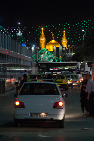 It is the shrine of eighth imam to the Shiite sect and is located in the city of Mashhad. And contains a huge golden dome and a number of minarets aureus and the huge doors.