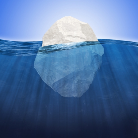 Abstract Illustration of Iceberg under water
