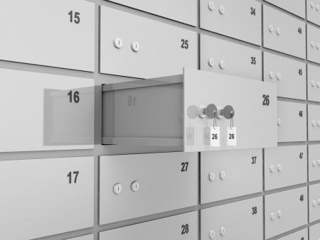 Photo pour Opened Deposit Bank Safe Abstract Background - image libre de droit
